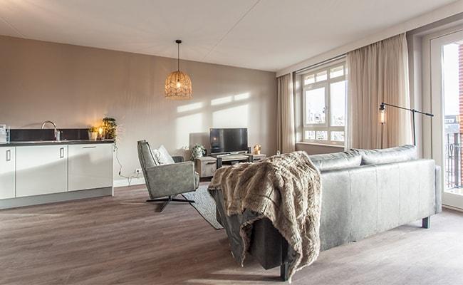 Huiskamer appartement seniorenwoning Calla Rijnsburg | Wonen in Calla