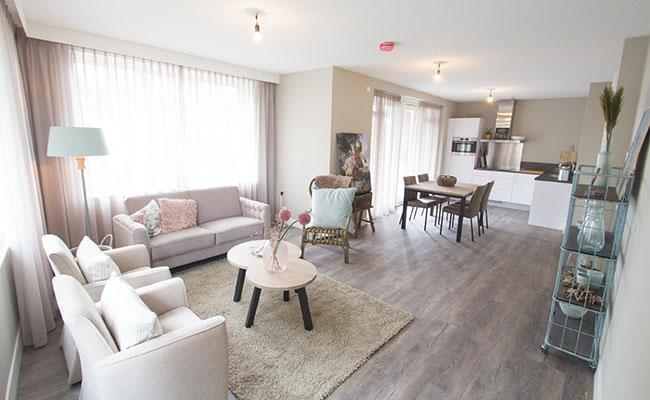 Short-Stay Appartement - Woonkamer | Wonen in Calla Rijnsburg